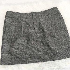 Ann Taylor Textured Grey Mini Skirt w Pockets 16